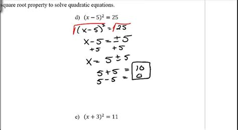 Solving Quadratic Equations By Finding Square Roots Worksheet by Solving Roots Of Quadratic Equations Tessshebaylo