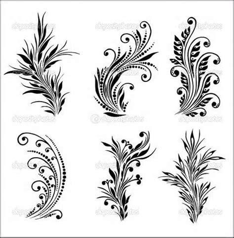 flourish tattoo designs scroll patterns flourishes printables leaves