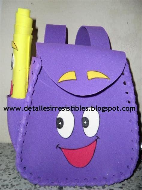 manualidades de dora la exploradora imagui mochila patrones con gomaeva mochila de mickey y minnie