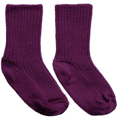 Baby Sock Purple Flower joha purple thermal wool ribbed socks childrensalon