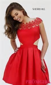 sherri hill cap sleeve cocktail dress promgirl