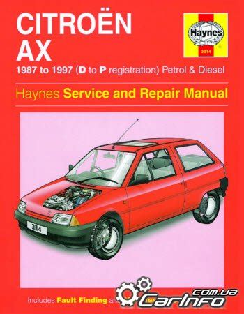 Citroen Ax 1987 1997 Haynes Service And Repair Manual