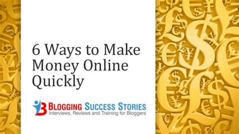 How To Make Money Online Quickly - 9 ways to quickly make money online
