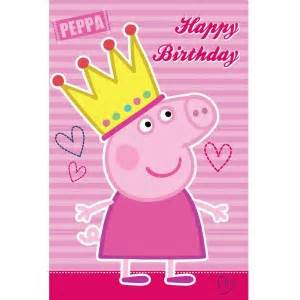peppa pig happy birthday card australia