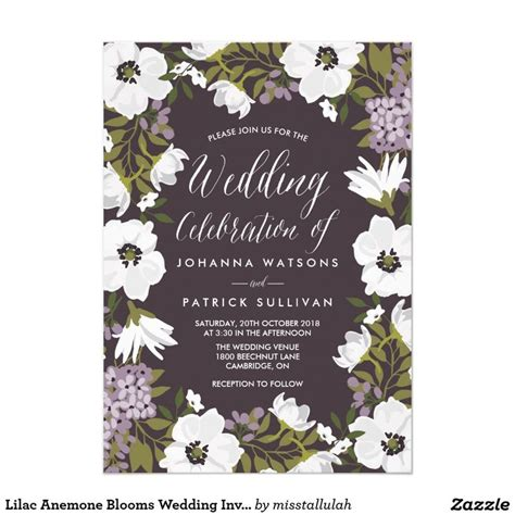 anemone wedding invitations 17 best images about weddings floral invitations on