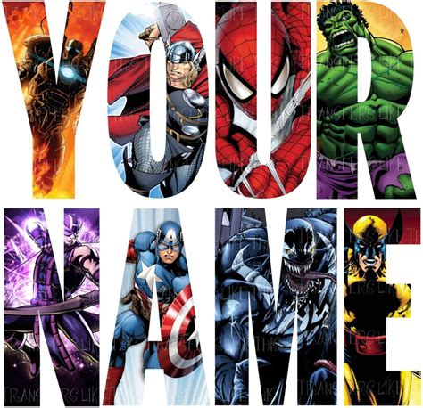 Personalised Wall Stickers For Kids marvel avengers letter name stickers wall deco decal 3