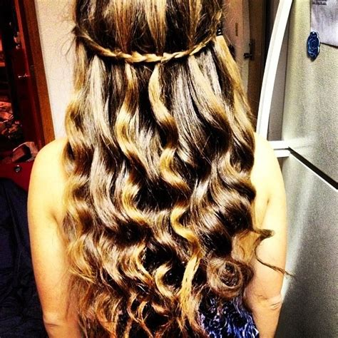 wanded hairstyles wanded hair with waterfall braid shaylen s pins