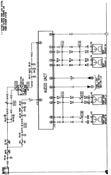 i need the wiring diagram for a 1999 mazda protege car