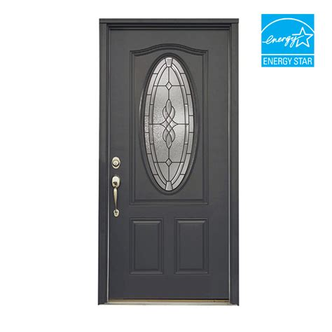 front doors lowes shop reliabilt 36 quot hton steel entry door unit at lowes