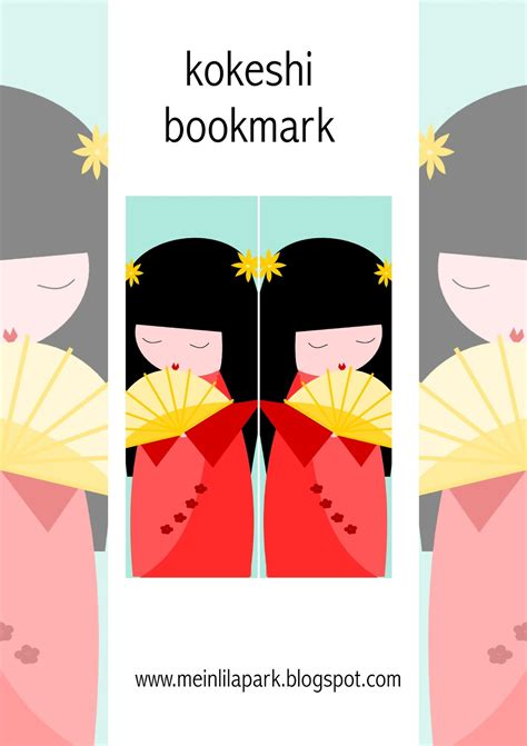 free printable japanese bookmarks free printable kokeshi bookmark ausdruckbares