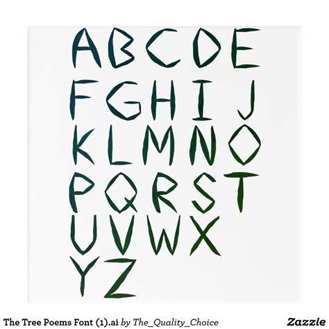 tree poems font ai acrylic print zazzlecom
