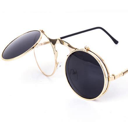 Kacamata Fashion Pria Wanita Vintage Mirror Lens steunk sunglasses steunk sunglasses retro and