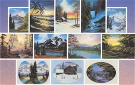 bob ross paintings on display bob ross of painting books