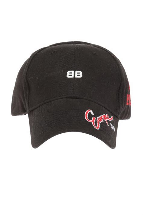 Lettering Embroidered Baseball Cap embroidered lettering baseball cap balenciaga vitkac