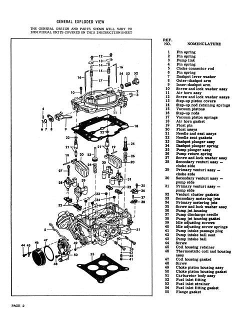 1957 1967 Carter Model Afb Carburetor