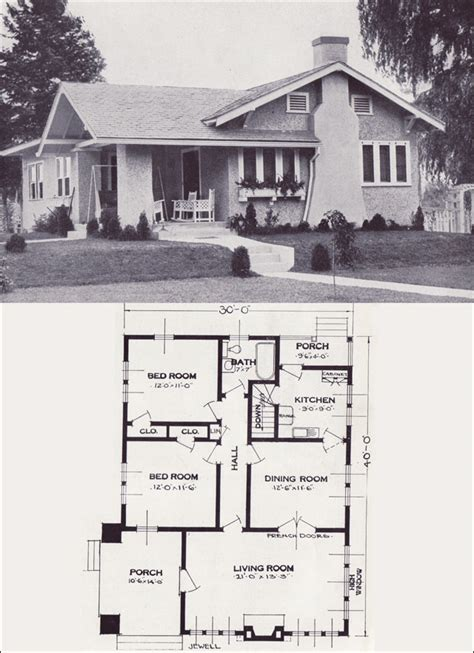1920 Bungalow House Plans by 1923 Standard Homes Company The Jewell Architecture