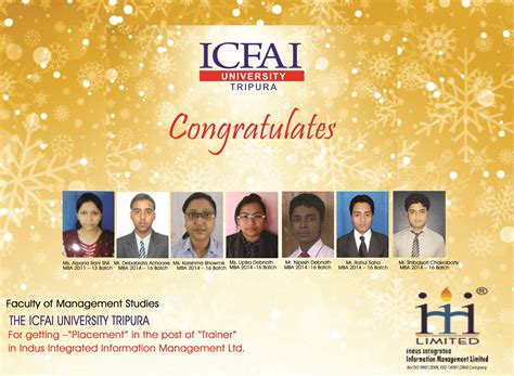 Icfai Distance Mba Student Login by Placements The Icfai Tripura Time