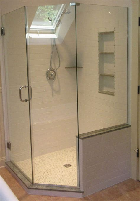Neo Angle Shower Enclosures Space Saving Corner Showers Angled Glass Shower Doors