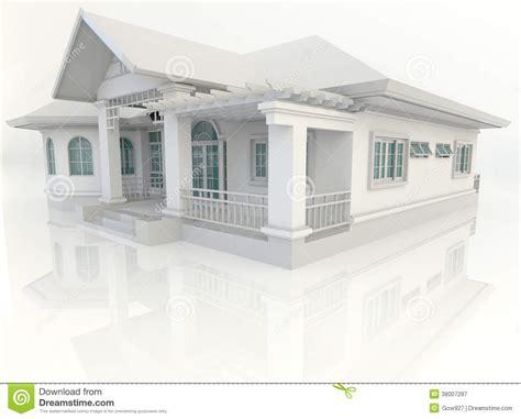 White At Home Dise 241 O Exterior De La Casa Vintage 3d Con El