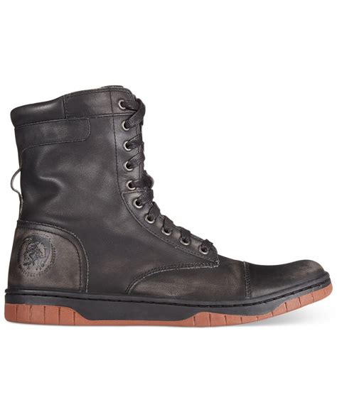 diesel boot diesel tatradium basket butch zip boots in black for