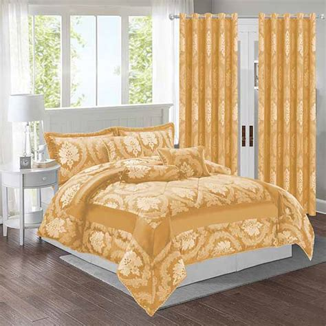 gold bedding set  matching curtains imperial rooms