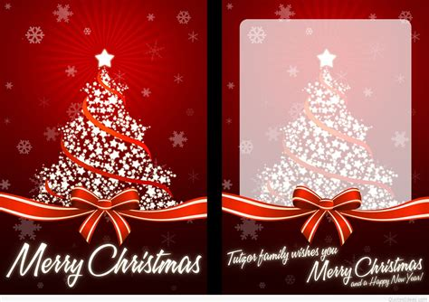 Merry Christmas And Happy New Year Gift Card - merry christmas happy new year cards christmas lights card and decore