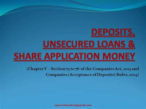section 76 of the companies act deposits under companies act 2013 authorstream