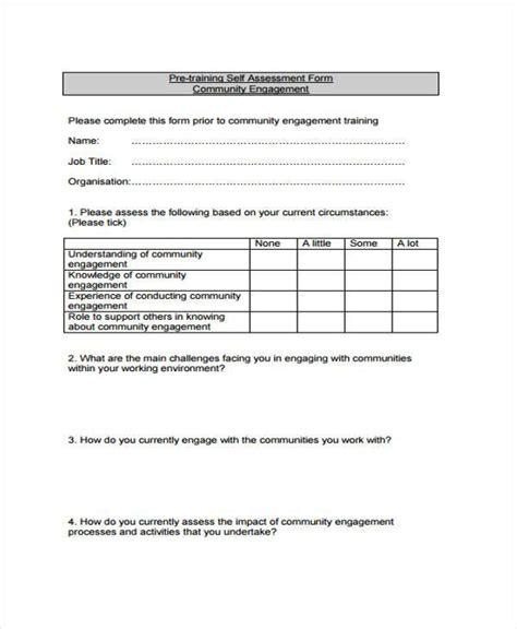 7 assessment form sles free sle exle