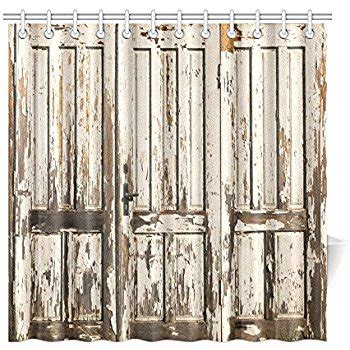 curtain that looks like a door com cafepress old rustic barn door decorative
