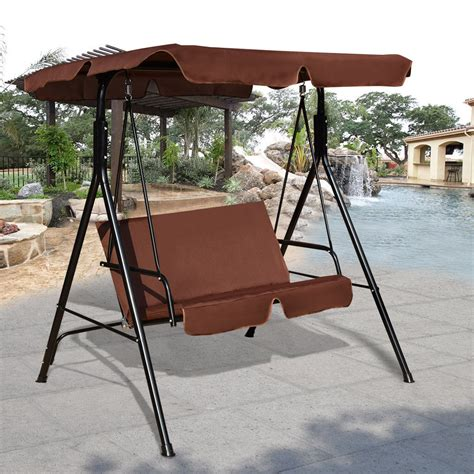 walmart glider swing costway loveseat patio canopy swing glider hammock
