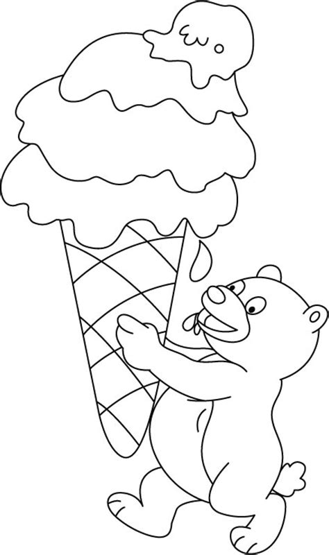free coloring pages of ice cream puzzle