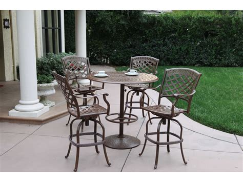 darlee cast aluminum outdoor patio round square bar stool darlee outdoor living series 60 cast aluminum 30 round bar