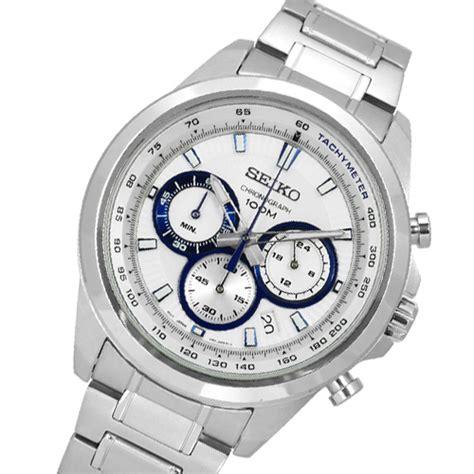Seiko Silver White seiko ssb239 chronograph stainless steel quartz white