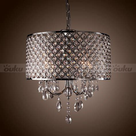 white drum pendant light fixture drum chandelier crystal 4 lights modern ceiling lighting