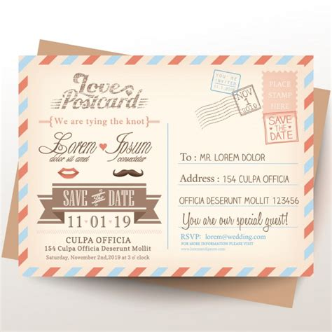 Hochzeitseinladung Postkarte by Vintage Postkarte Hochzeit Einladung Hintergrund