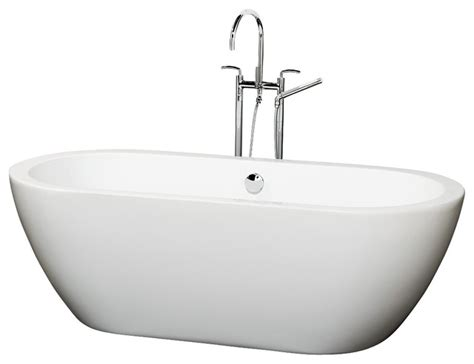 Wyndham Collection Soho Freestanding Soaking Bathtub by Wyndham Collection 60 Quot Soho White Soaking Bathtub With