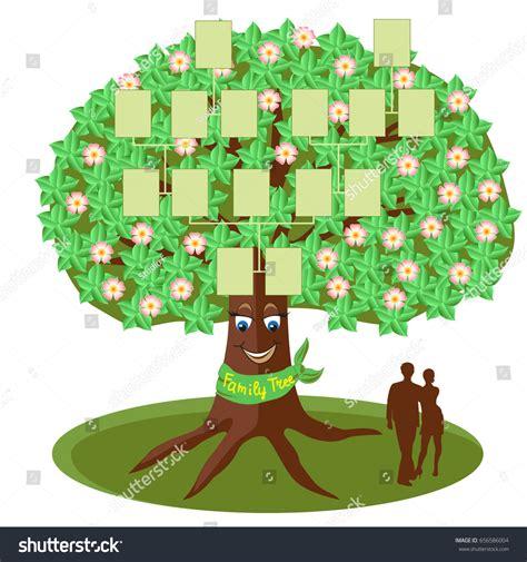 Family Tree Template Empty Frames Photos Stock Vector 656586004 Shutterstock Family Tree Template Empty Frames Photos Stock Vector 656586004