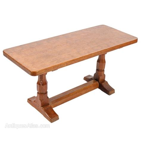 Next Oak Coffee Table Antiques Atlas Mouseman Oak Coffee Table