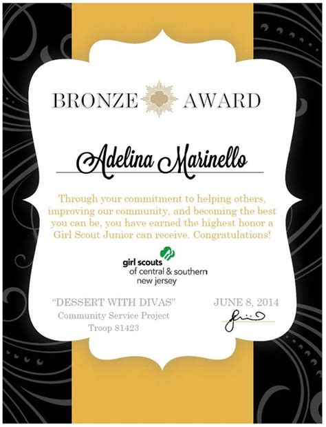 bronze certificate template 1000 images about bronze award ideas on