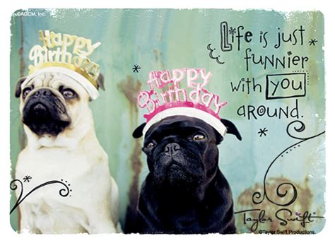 pug birthday ecard pug ecards free invitations ideas