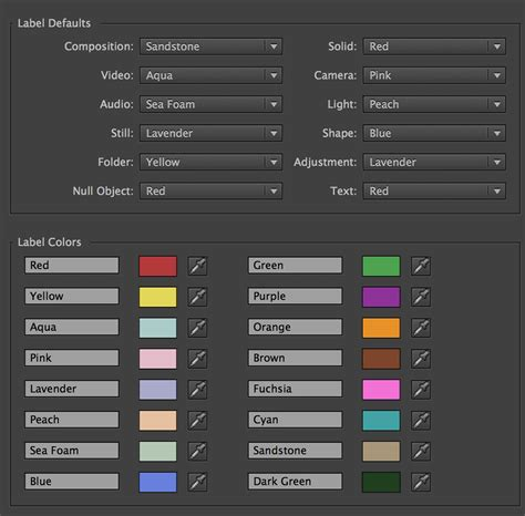 color labels after effects tip changing label colors the beat