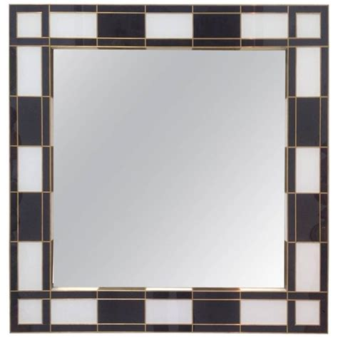 black and white mirror black and white glass mirror mirrored for sale at 1stdibs