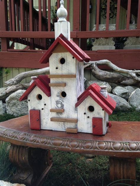 Handcrafted Birdhouses - birdhouse handmade large bird house post mount condo