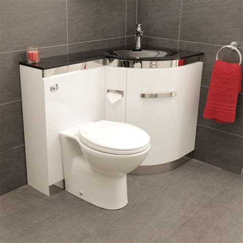 Shower Over Corner Bath vega right hand corner combination unit toilet and black basin