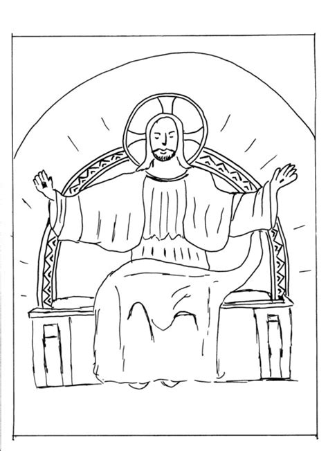 throne of god coloring page coloring pages
