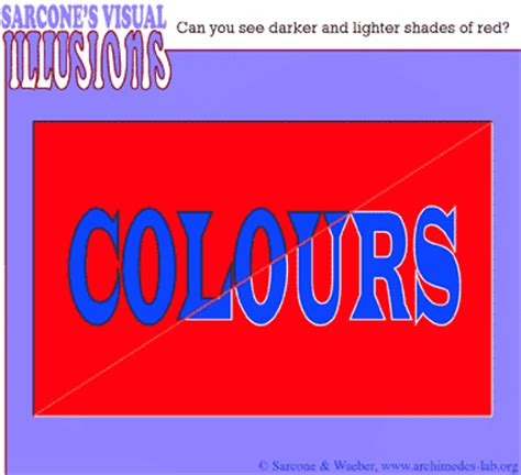 different reds different shades of red optical illusion