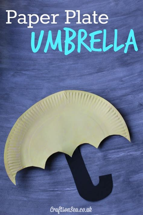 Paper Plate Umbrella Craft - paper plate umbrella craft for crafts on sea