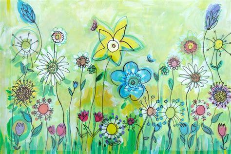 brightest  beginnings flower garden murals