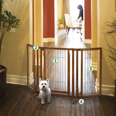 Gate With Pet Door by Richell Premium Plus Freestanding Pet Gate With Door