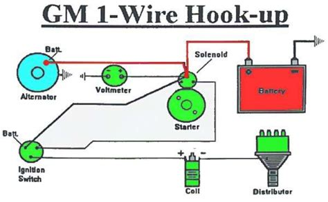 13048 wire delco alternator wiring diagram gm 12v